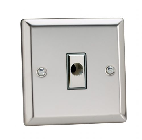 Varilight XCFOD Classic Mirror Chrome 1 Gang 16A Flex Outlet Plate